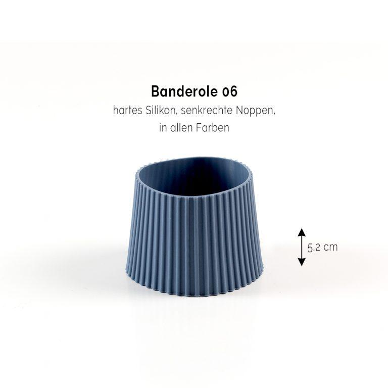Bambusbecher bedrucken Bandarole Blau